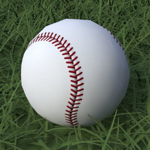 baseball clean dirty 3d model