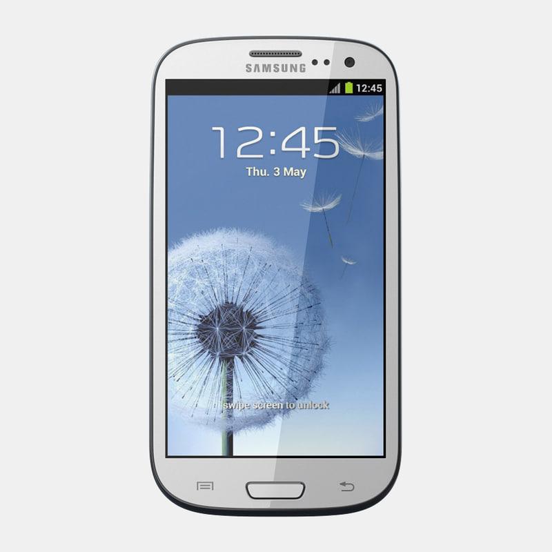 3d model samsung i9300 galaxy s
