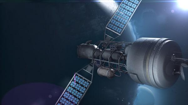 satellite 3d obj