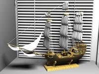 gift ship 3d max