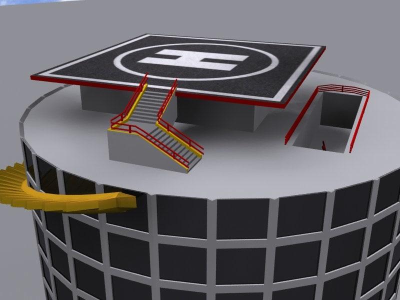 3d office skycraper