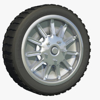 wheel alloy rim 3d model