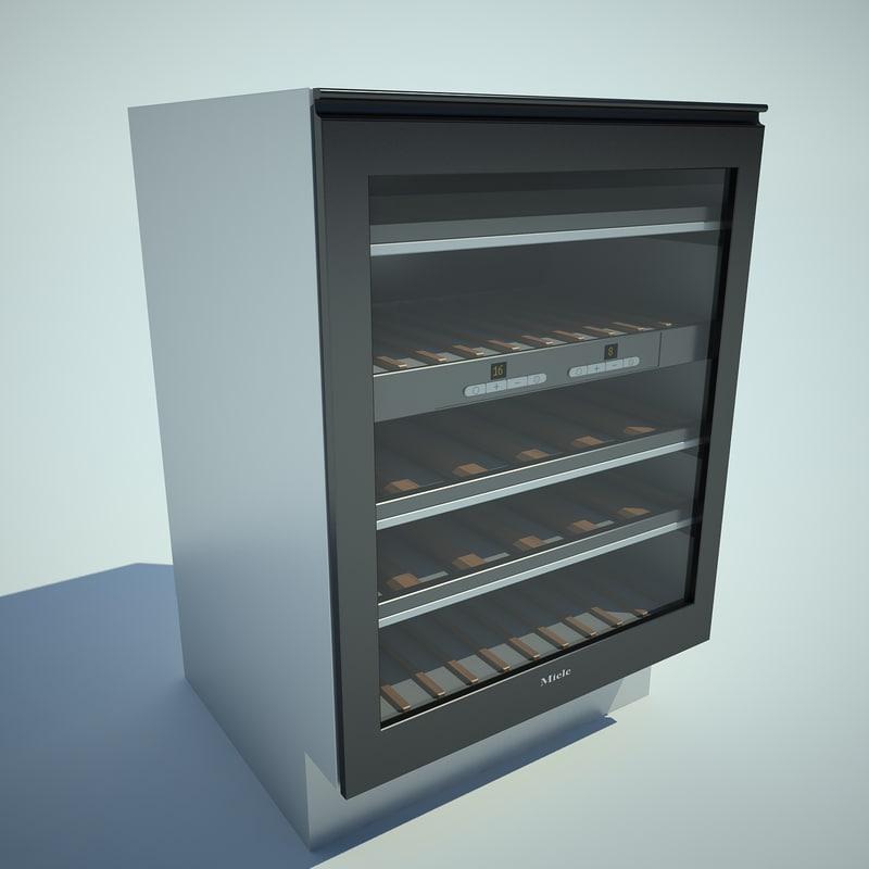 wine refrigerator 3d model