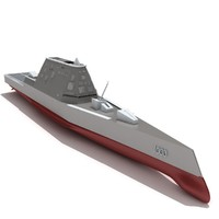 zumwalt class destroyer dd-1000 3d model