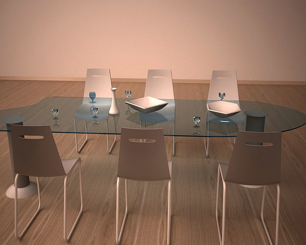 minimalistic dining table 3d max