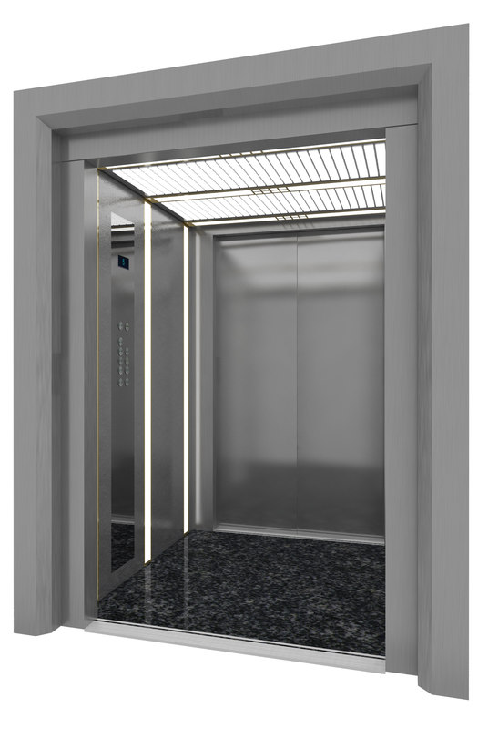 Dual door elevator 3d model for Door 3d model