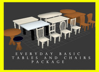 Everyday Basic Tables and Chairs Package