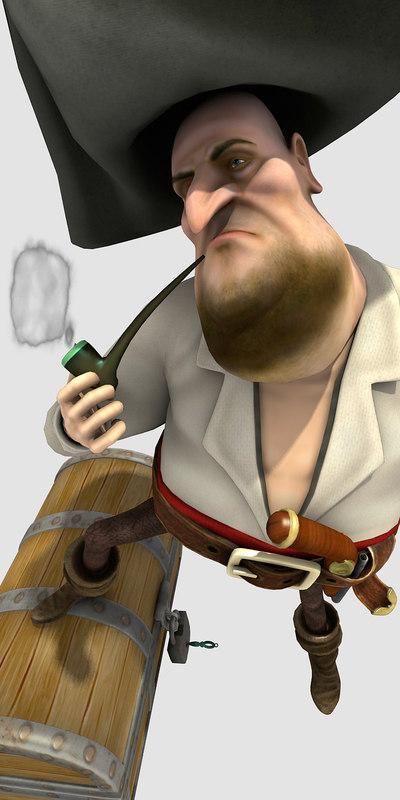 c4d character pirat flint