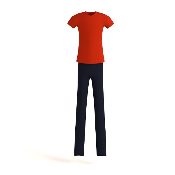 men casual clothes 3d 3ds