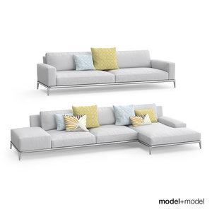 poliform park sofa 3d model