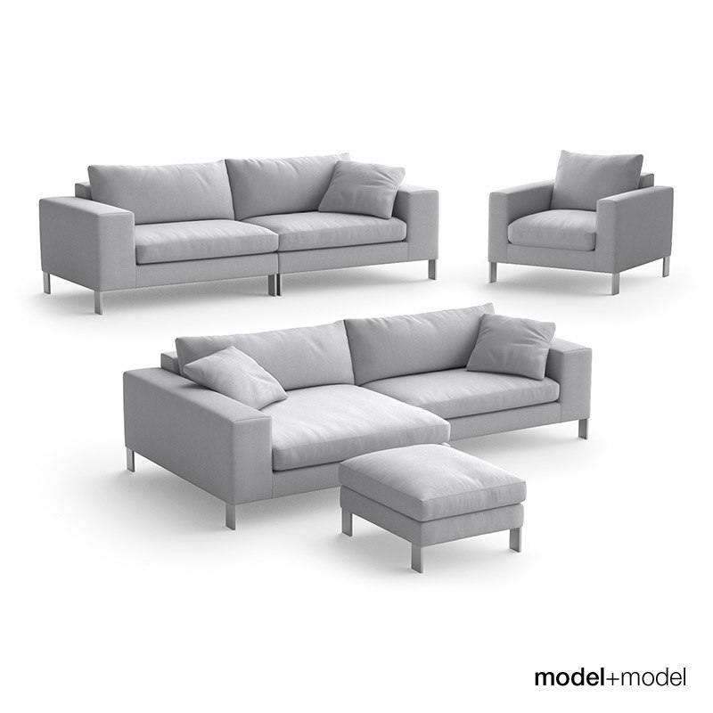 3d model linteloo plaza sofas armchair
