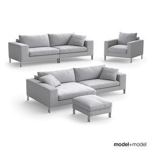 3d model linteloo plaza sofas armchair