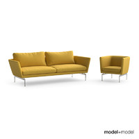 Vitra Suita sofa and armchair