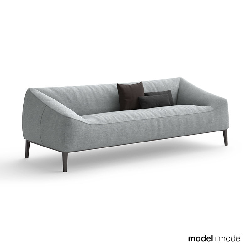 3d model poliform carmel sofa armchair