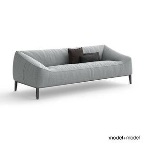 3d model poliform carmel sofa armchair
