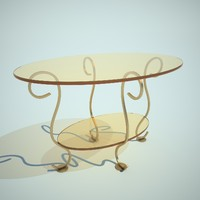 oval little table