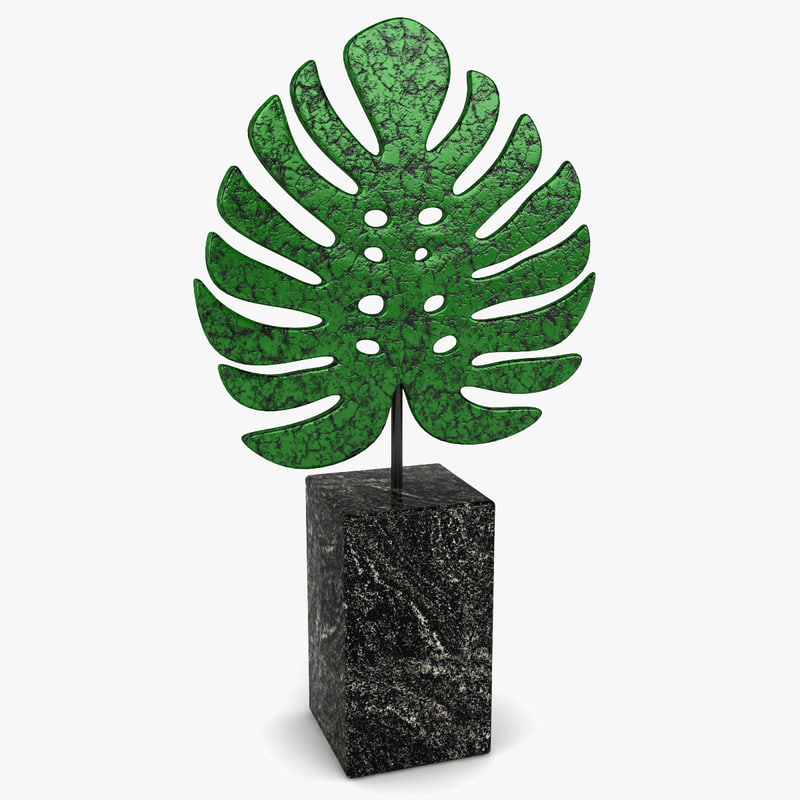 philo leaf decoration 3d model