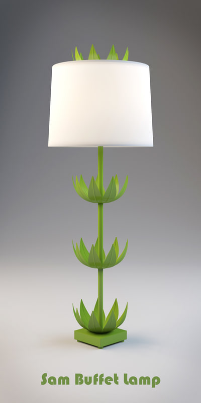 maya sam buffet lamp