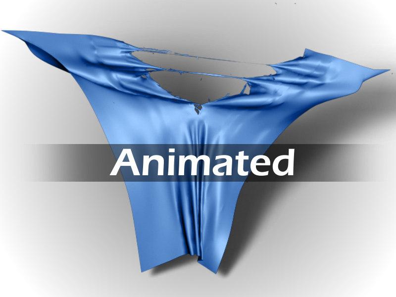 3d cloth torn model