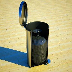 kitchen trash bin bag 3d model