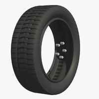 wheel rubber tire c4d