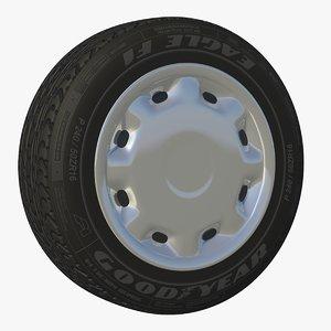 wheel rim sedan c4d