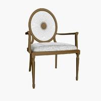 3d model capotavola raggio armchair