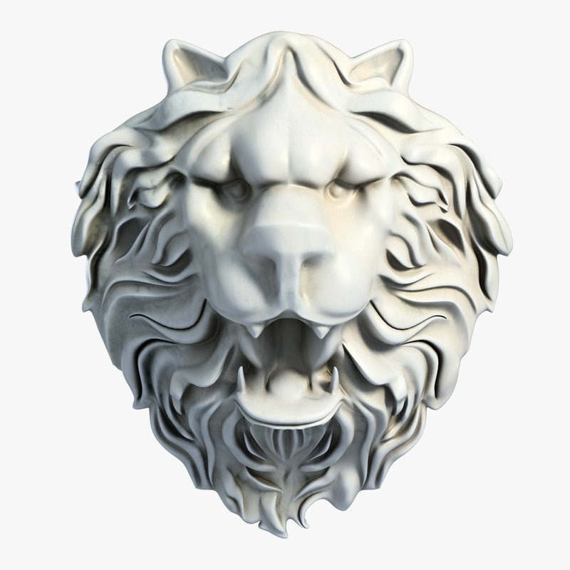 3dsmax lion head sculpture 2