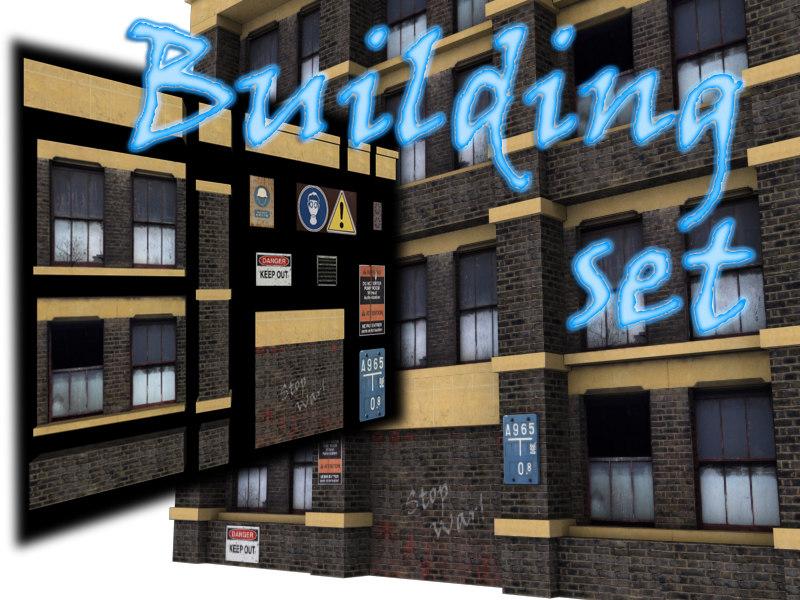 set buildings 3d model