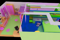sweet apartment 3d