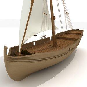 wooden ship 3d model