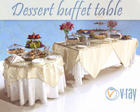 Dessert buffet table