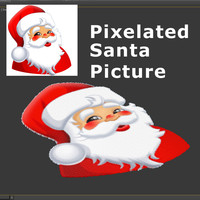 3d pixelated santa