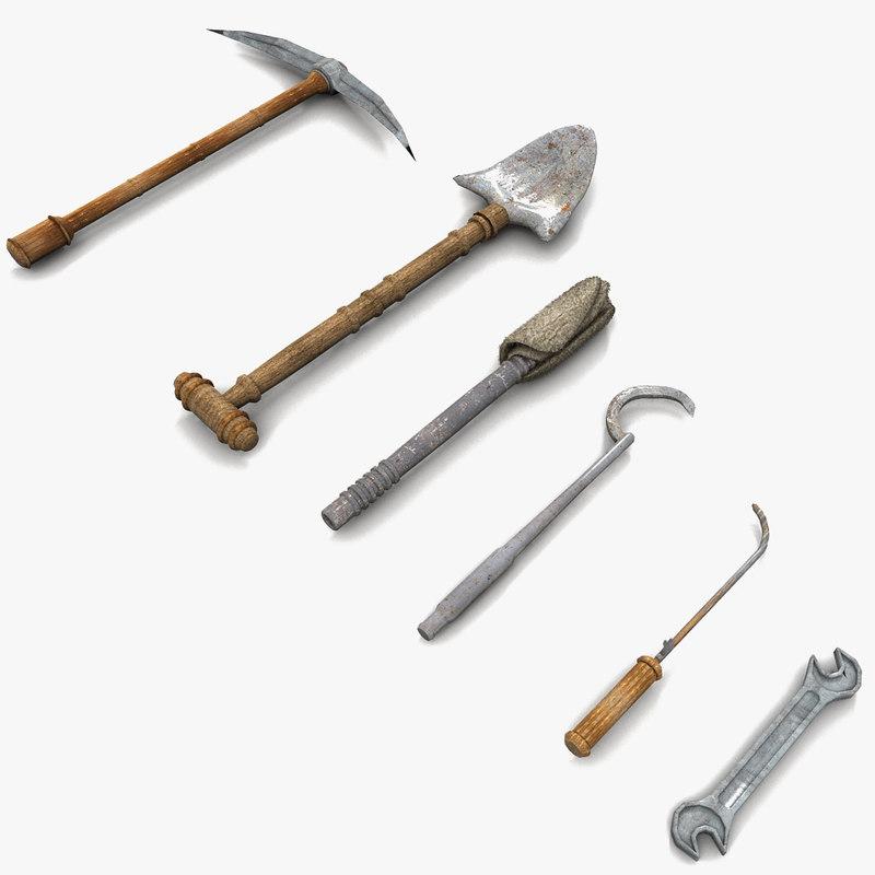 tool shovel 3d max
