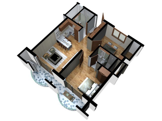floor plan doll house 3d model