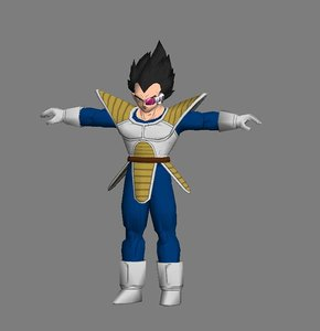 vegeta dragonball polygons 3d max