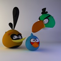 3d angry birds model