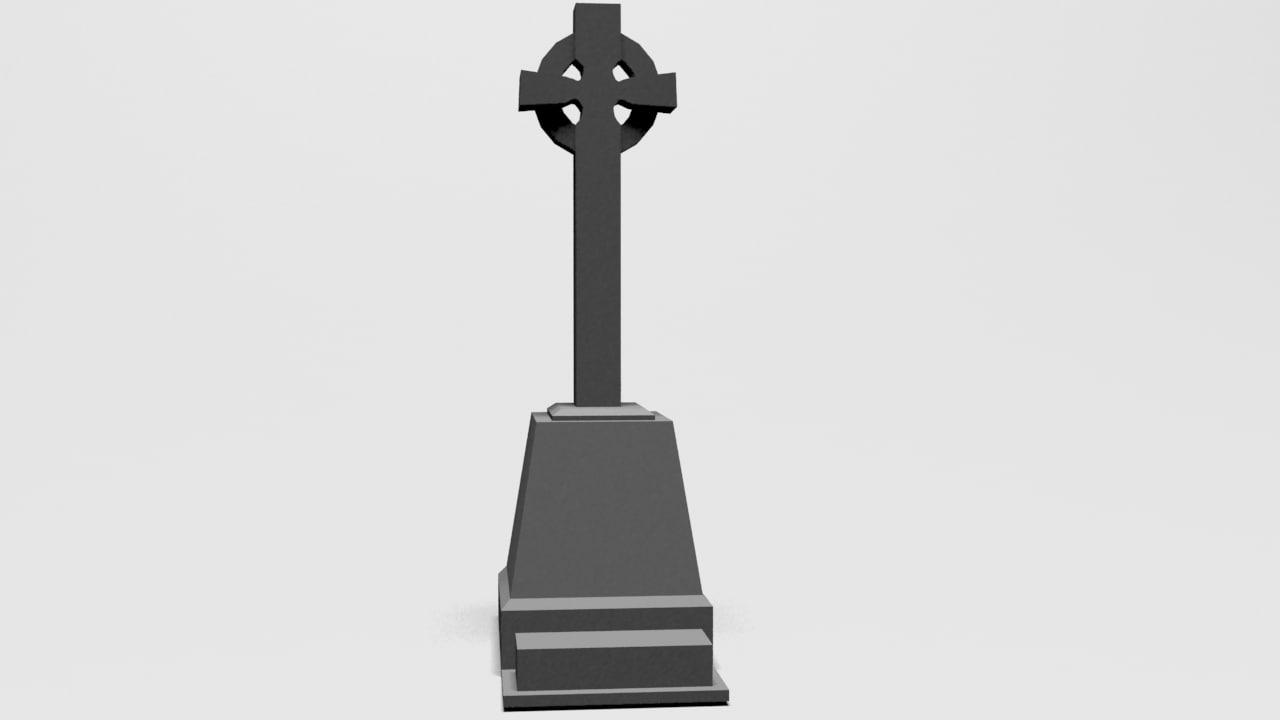 free 3ds model halloween headstone