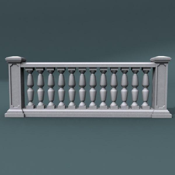 3d balustrade architectural model