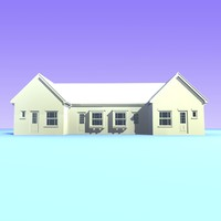 3d model british houses 16