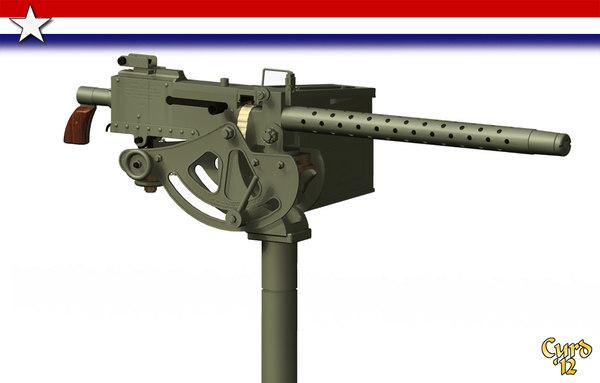 3d m1919 machine gun