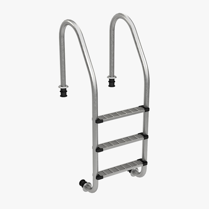 3d swimming pool ladder