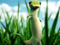 lizard geico 3d model
