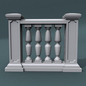 balustrade architectural 3d model