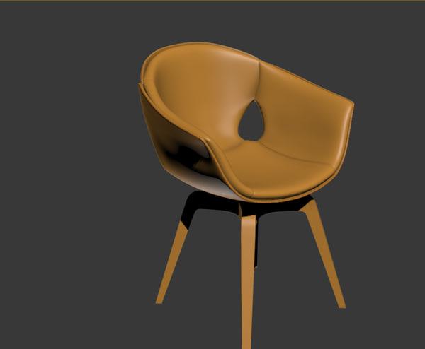 free poltrona frau ginger chair 3d model