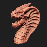 3d model dragon head printing
