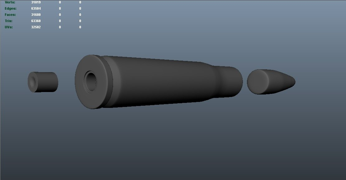 primer bullet casing 3d ma