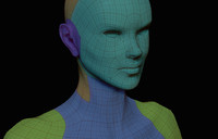 free simple female basemesh 3d model