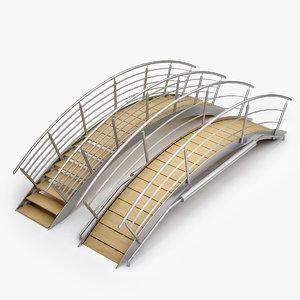 3d model swimming pool bridges