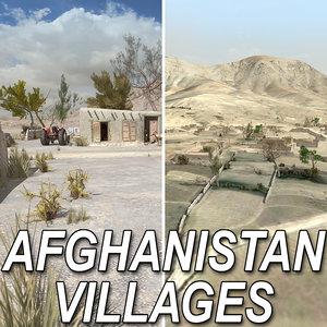 3d model afghan village
